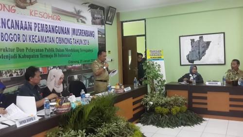 Musrenbang RKPD Kabupaten di Kecamatan Cibinong