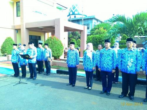 Upacara Peringatan Hari Pahlawan Tk. Kecamatan Cibinong tahun 2015